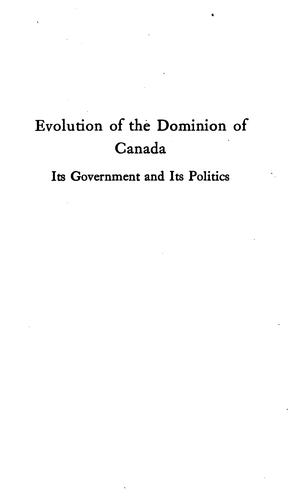 Download Evolution of the dominion of Canada