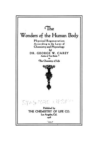 The wonders of the human body, physical regeneration according to ...
