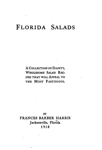 Florida salads by Frances Barber Harris