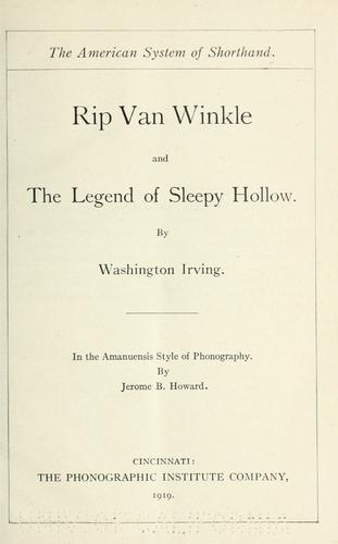 Rip Van Winkle and The legend of Sleepy Hollow.