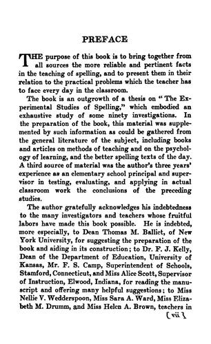 Download The teaching of spelling