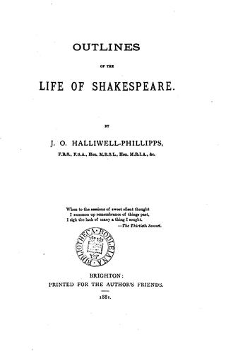 Download Outlines of the life of Shakespeare.