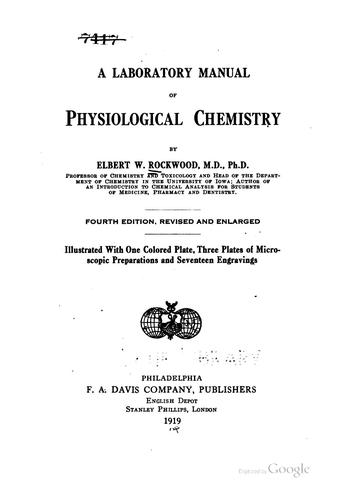 Download A laboratory manual of physiological chemistry.