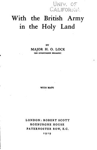 Download With the British army in the Holy Land