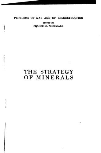 Download … The strategy of minerals
