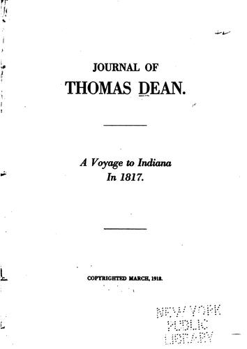 Download Journal of Thomas Dean.