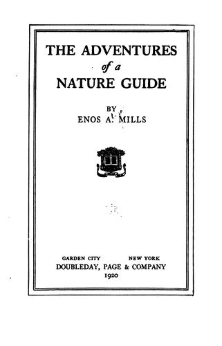 Download The adventures of a nature guide