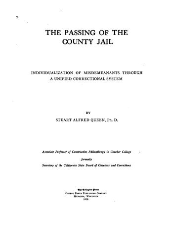 The passing of the county jail