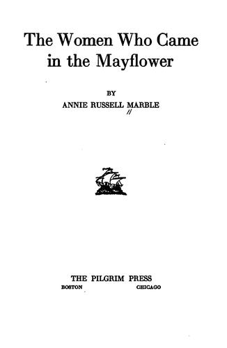 Download The women who came in the Mayflower