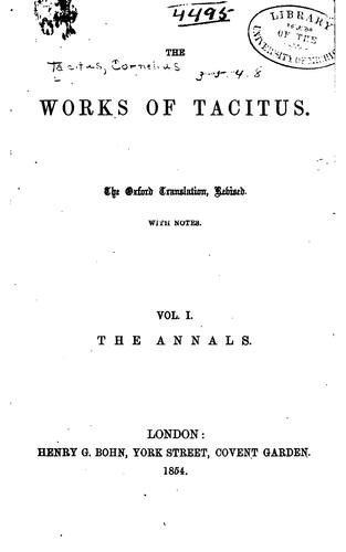 The works of Tacitus.
