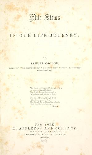Mile stones in our life-journey.