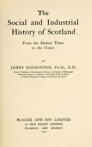 The social and industrial history of Scotland