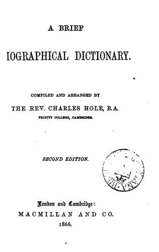 Download A brief biographical dictionary.