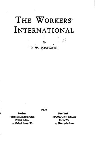 Download The workers' International