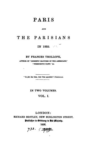 Paris and the Parisians in 1835.