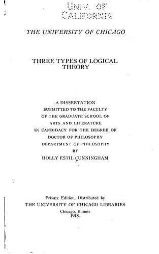 Three types of logical theory.