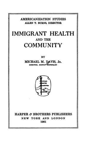 Immigrant health and the community