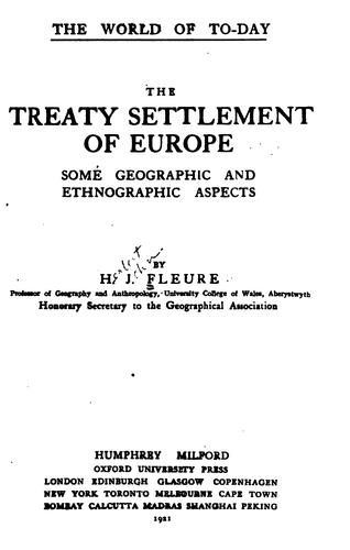 Download The treaty settlement of Europe