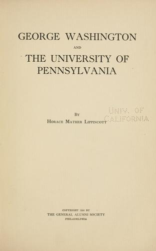 Download George Washington and the University of Pennsylvania
