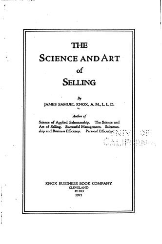 Download The science and art of selling