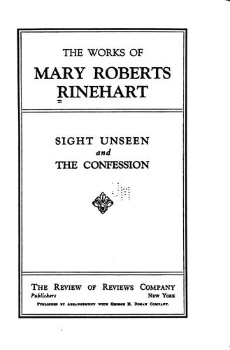 Download Sight unseen and The confession