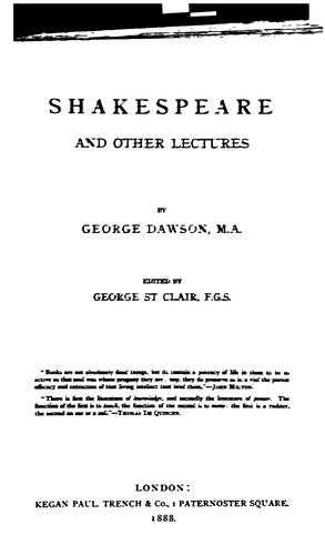 Download Shakespeare and other lectures