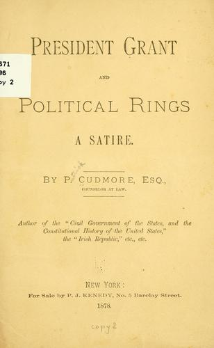President Grant ; and, Political rings