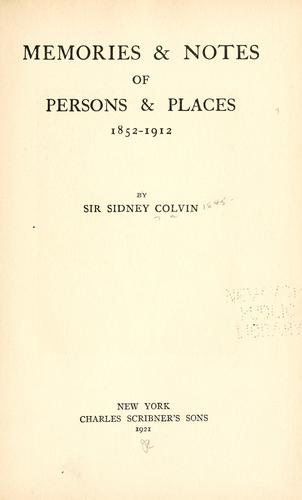 Download Memories & notes of persons & places, 1852-1912