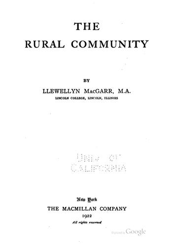 The rural community