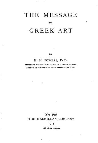 The message of Greek art