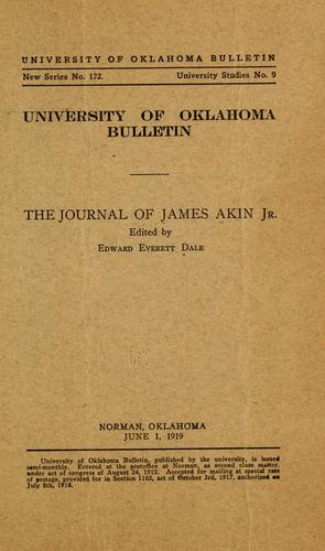 Download The journal of James Akin, Jr.