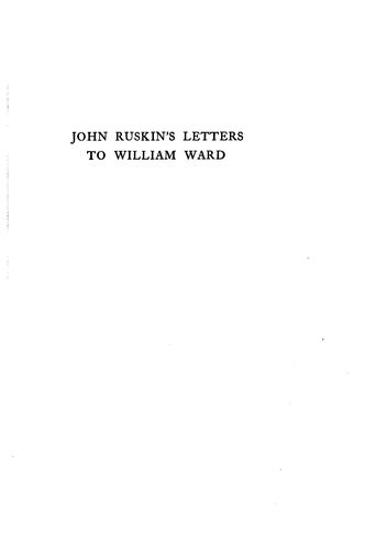 Download John Ruskin's letters to William Ward