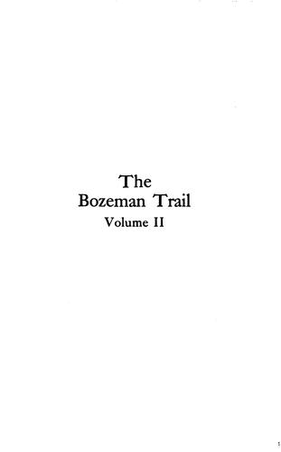 Download The Bozeman trail