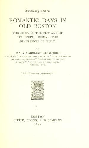 Download Romantic days in old Boston