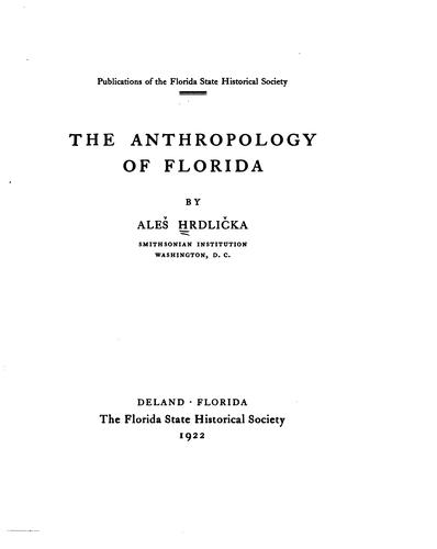 Download The anthropology of Florida