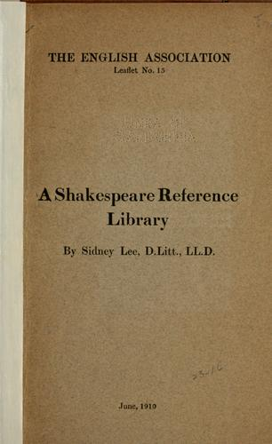 Download A Shakespeare reference library