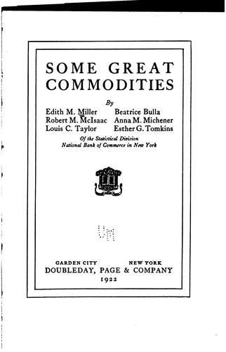 Download Some great commodities