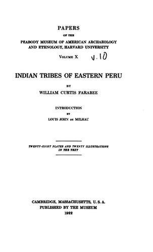 Download Indian tribes of eastern Peru