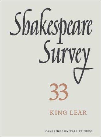 Shakespeare Survey 33 King Lear by Muir, Kenneth.