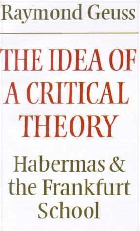 Download The idea of a critical theory