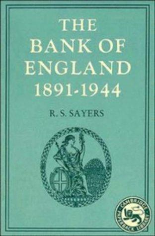 Download The Bank of England, 1891-1944