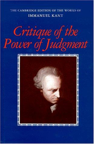 Download Critique of the power of judgment