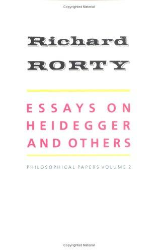 Download Essays on Heidegger and others