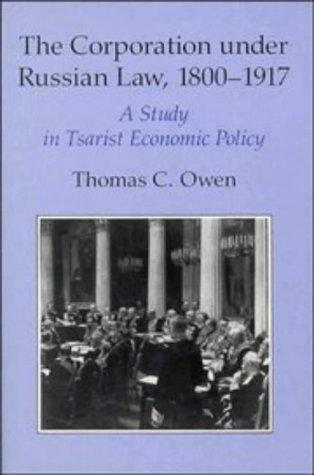 Download The corporation under Russian law, 1800-1917