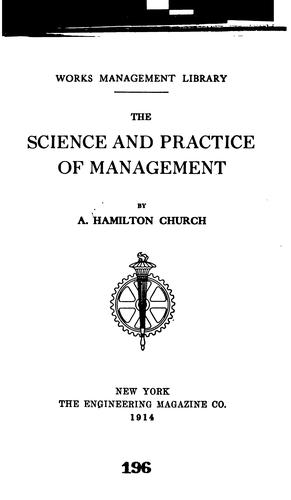 Download The science and practice of management