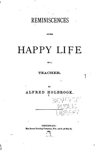 Download Reminiscences of the happy life of a teacher