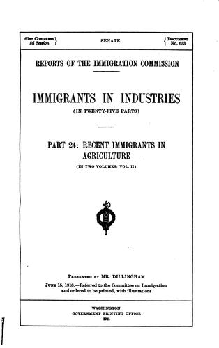 Reports of the Immigration Commission.