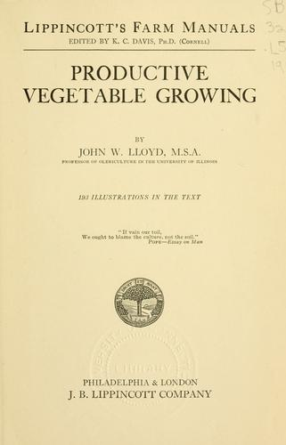 Download Productive vegetable growing