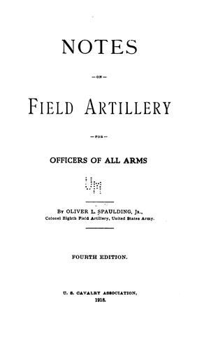 Download Notes on field artillery for officers of all arms