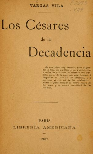 Download Los Césares de la decadencia.